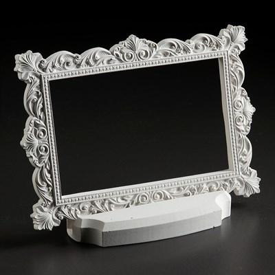"РАМКА ""ВЕНЕЦИЯ"" с подставкой, белый цвет - фото 4620"