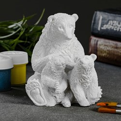"Статуэтка  под раскраску ""Мама медведица"" - фото 82716"