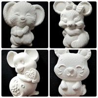 "Набор фигурок под раскраску ""Мышки-милашки"", в комплекте 4 шт, размер фигурки 12Х6 см"