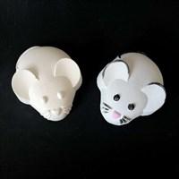 """Фигурка под раскраску """"Мышка овальная """", размер 10х6 см"""