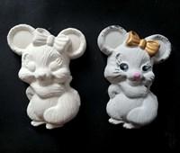 """Фигурка под раскраску """"Мышка с бантиком """", размер 12х10 см"""