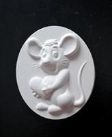 "Фигурка под раскраску ""Мышкино сердце "", размер 12х6 см"