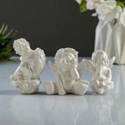 """Набор статуэток """"3 ангелочка"""" перламутровый"""